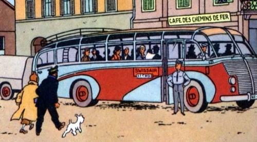 Tintin et l'autobus