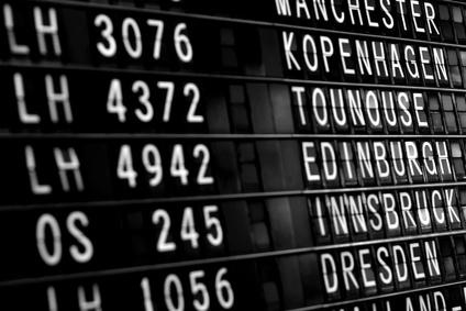 afficheur d'aeroport